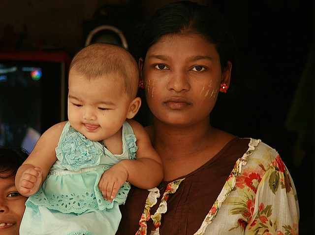 burmese mother and son
