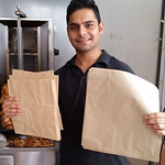 Mohit at The Kebab Inn at The Bush Inn Centre only uses paper bags for their delicious kebabs #nzbagban