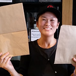 Manami and Team Hachi Hachi - Hereford Street are using paper bags! #nzbagban