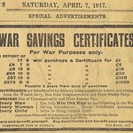 Mon, 2019-12-30 14:42 - War Saving Certificates 1917