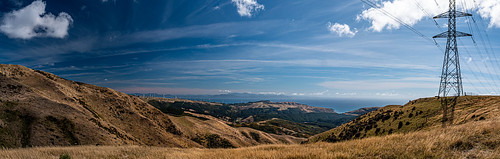 <p>Cook Strait panorama from the Skyline Track, Wellington</p>