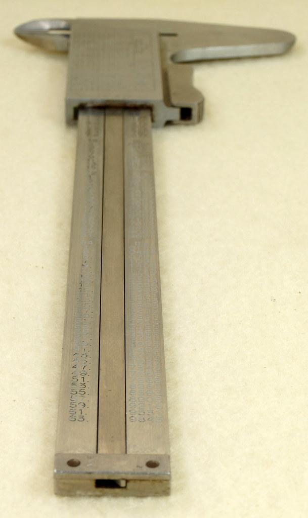 RD20908 Vintage Helios Stainless 6 inch Vernier Caliper Germany Inside Outside Depth DSC01914