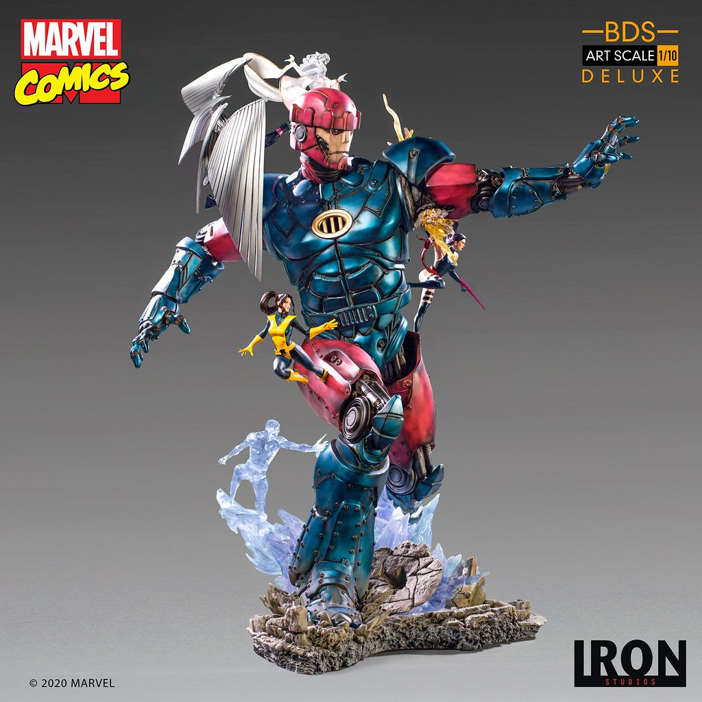 超絕魄力的大戰終章!Iron Studios Battle Diorama 系列 Marvel Comics【X戰警大戰哨兵機器人 #3】X-Men Vs Sentinel #3 1/10 比例雕像