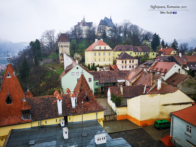 2019 Europe Romania Sighisoara Clock Tower View 2