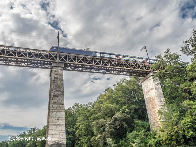 THU765 SBB Railroad Bridge over the Thur River, Kleinandelfingen – Andelfingen, Canton of Zurich, Switzerland