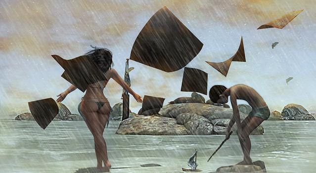 Listen to the Mandolin Rain...Music inspired Art...Teddiebear Spearsong