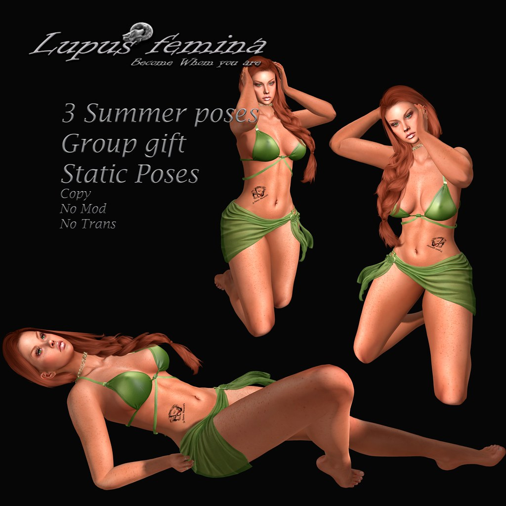 """Lupus Femina"" Summer bento Poses – Group Gift"