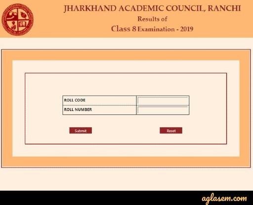 JAC 8th result login