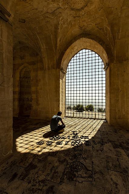 Mardin Kasimiye Madrasah to look at the Mesopotamian Plain.....Turkey...(Tigris Section of Southeastern Anatolia Region)