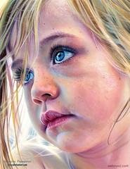 Hyper Realistic Color Pencil Drawing Kid