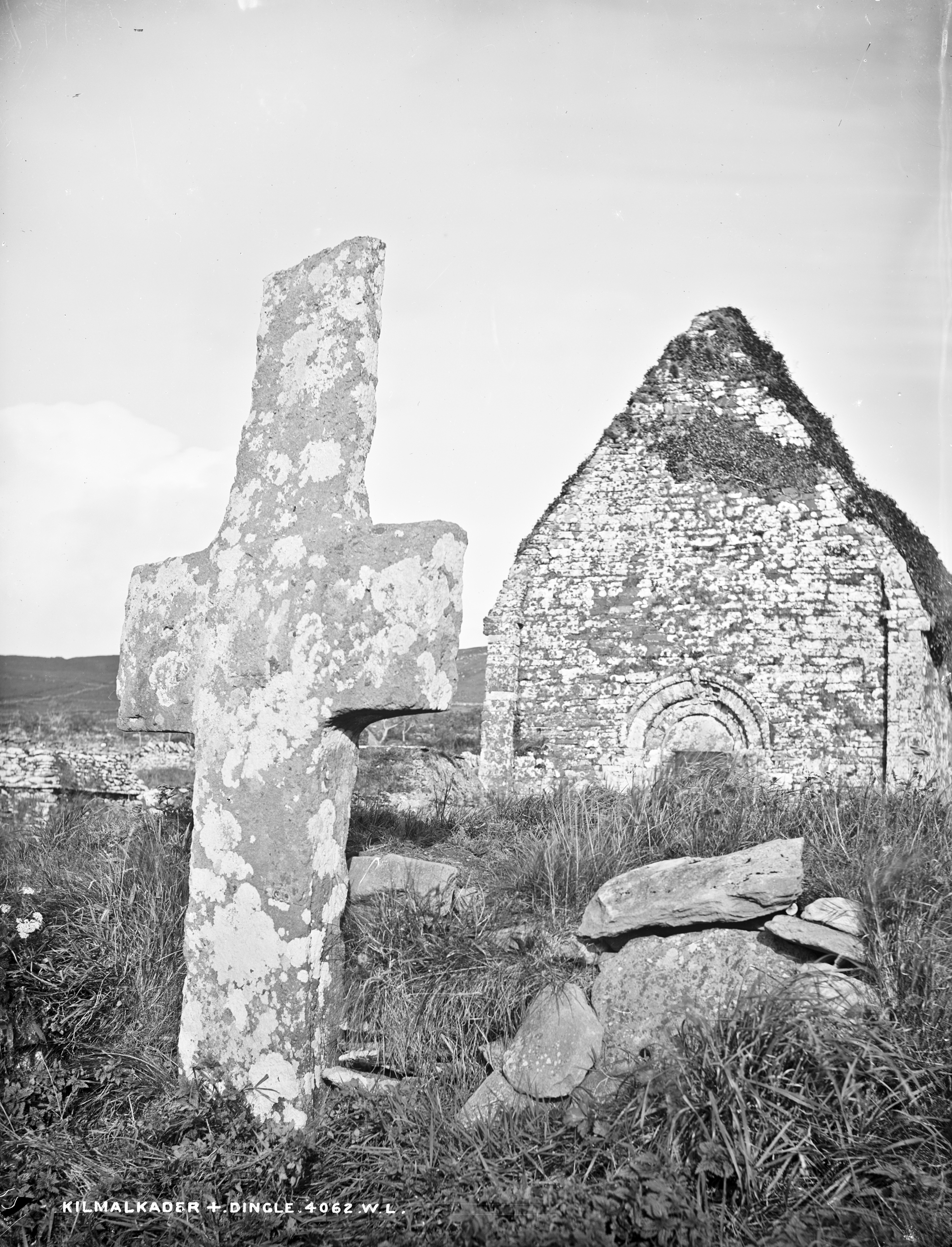 Old stones and high grass in Dingle