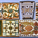 robmcrorie posted a photo:	A couple of these tiles are elsewhere in my photostream, but it seemed worth expanding the information about the company and adding some tile backs.The Derwent Foundry in Derby seems to have been founded in the 1820s. By the 1880s they were making a lot of fireplaces and grates, like several other companies they embellished these with their own tiles, rather than just buying them in. Some 41 designs were registered between 20.2.1884 & 18.4.1894 and they were made by George Wooliscroft and Son in Stoke on Trent, using transfer printing with the company's particular method of multicolour block printing. The company had a long history outside fireplaces and tiles, the first Qualcast lawn mower was made by them in 1920, in 1928 Qualcast was split off as a separate company.The swastika did not have evil connotations until the mid 20th century, indeed quite the reverse. But I suspect many of these tiles would not have survived the late 20th century, you wouldn't really want it in your drawing room even if the Nazi version had arms pointing the other way.