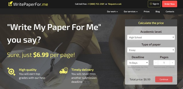 WritePaperFor.me main page