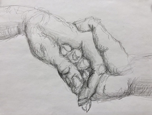 Helping hand.  #drawing #pencildrawing #ketedailydoodlechallenge #doodletuesday  number two pencil on regular copier paper
