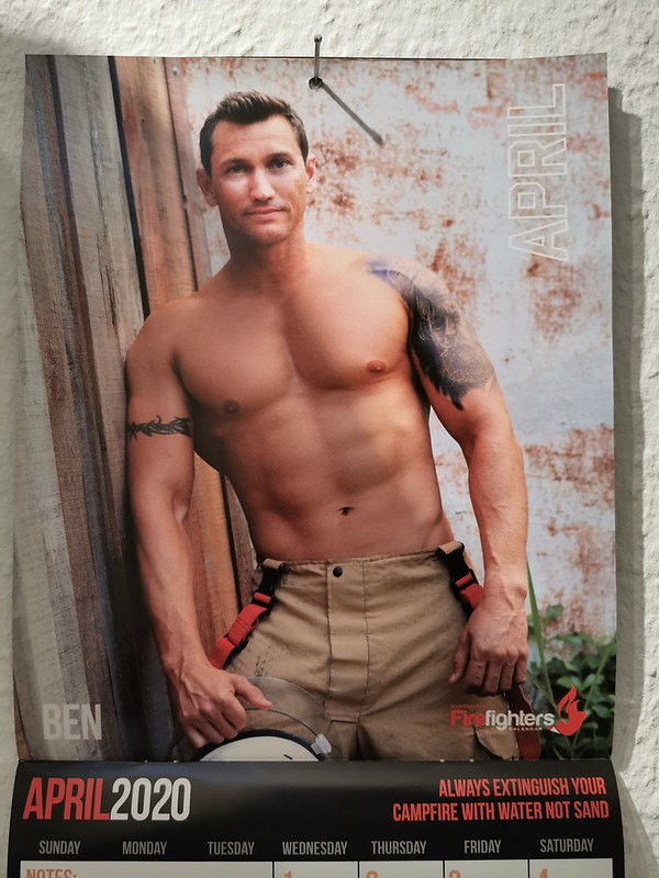Australian Firefighters 2020 Calendar: April (Ben)