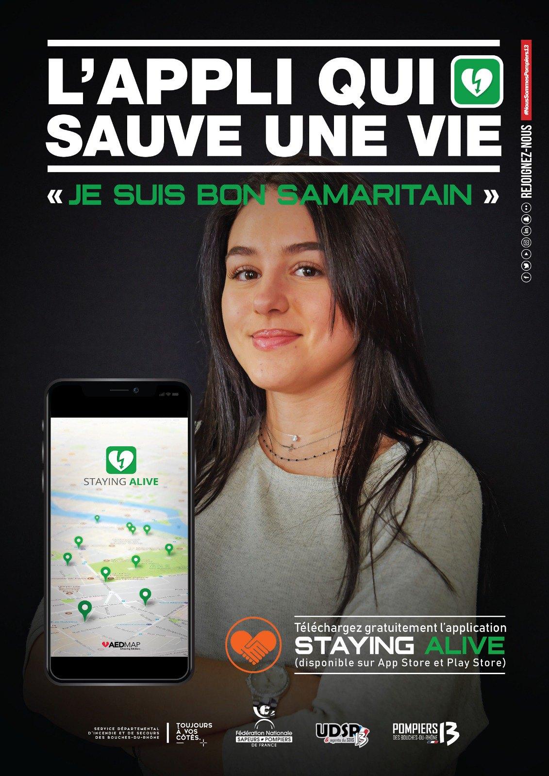 Devenez bon samaritain avec l'application Staying alive