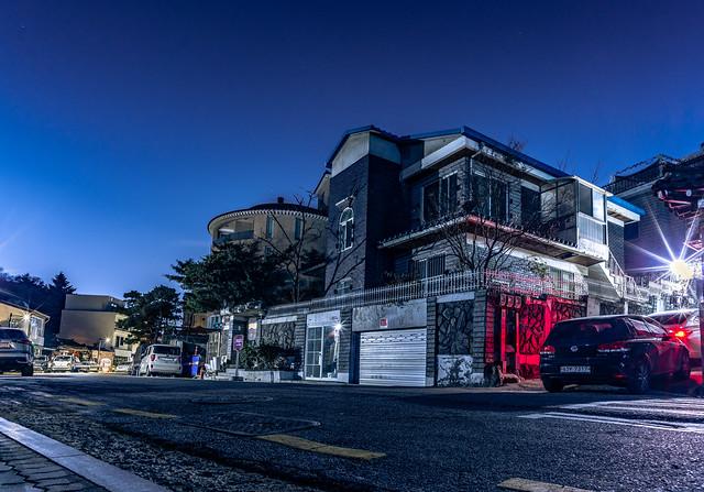 Bukchon at night