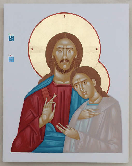 2020 Jesus Christ and St. John the Apostle 30x24cm.