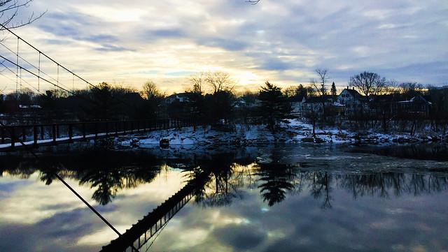 River at Sunset~Androscoggin River Series~no. 25
