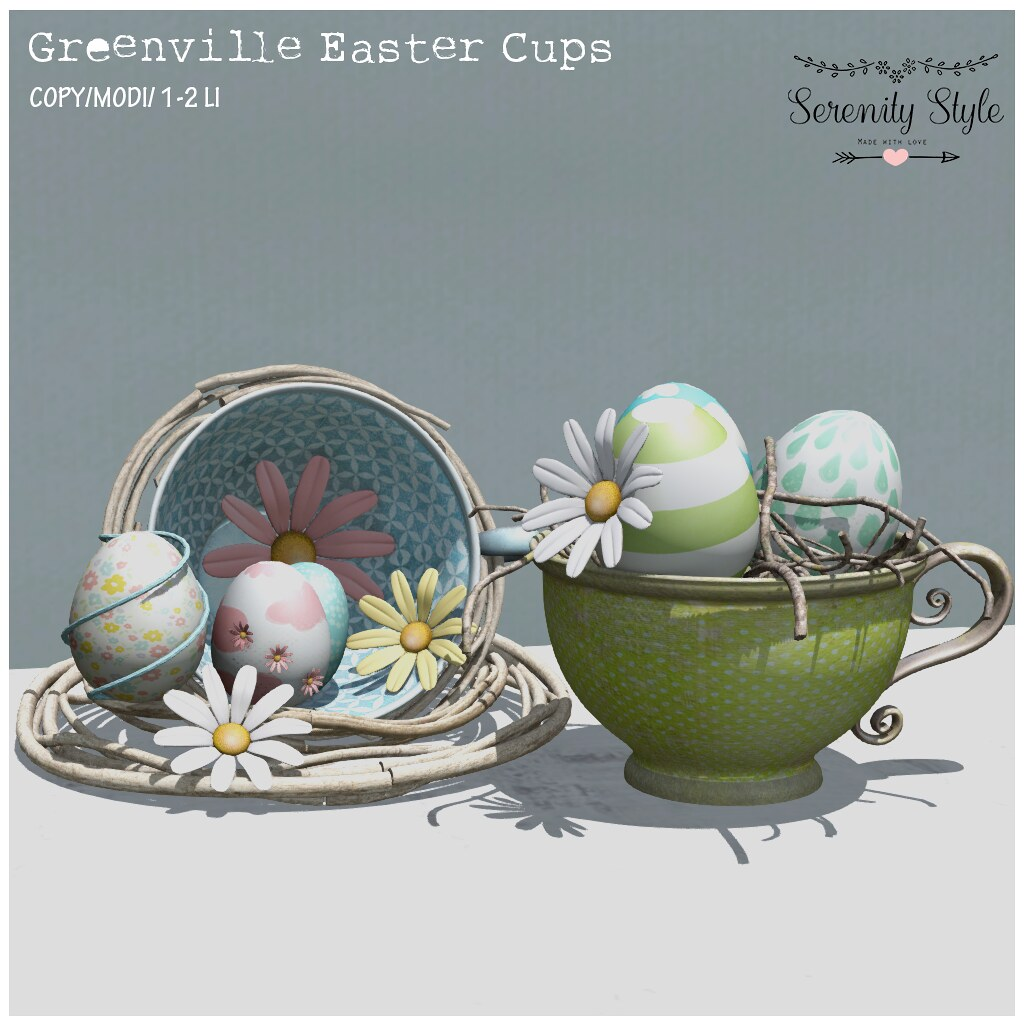 Serenity Style- Greenville Easter Cups