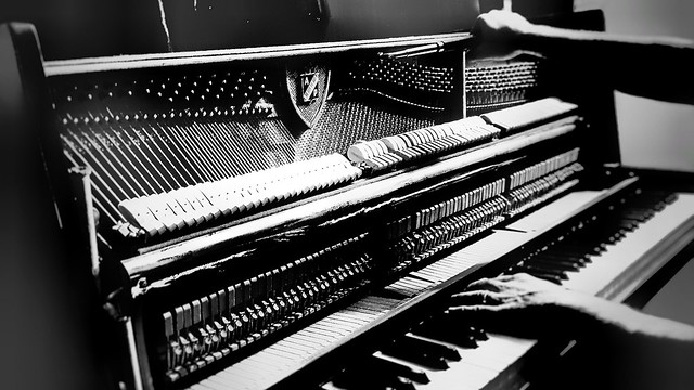 tuning the piano...