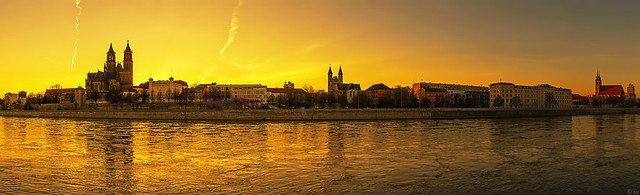 Magdeburg Sunset Panorama