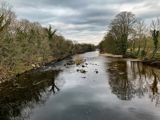 River Wharfe from the stillness and reflection. Day 91 of my 2020 366 photo project. #ilkley #wharfedale #yorkshire #landscape #365 #river #riverwharfe #reflections