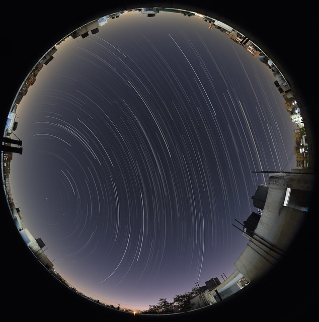 Lockdown star trail from Delhi -Duration of 3 hours