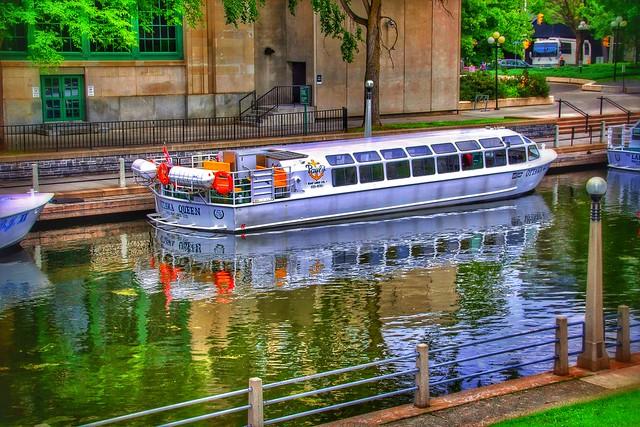 Ottawa Ontario ~ Canada ~  Rideau Canal Locks ~ Tour Boat ~ Historical