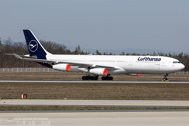 D-AIGT Lufthansa Airbus A340-313 (FRA - EDDF - Frankfurt)