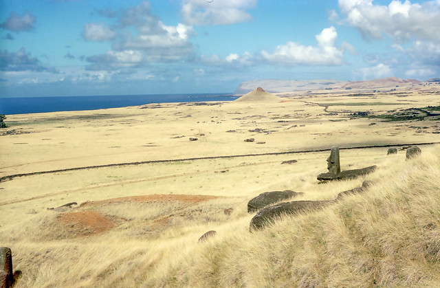 Easter Island, One Statue Stands
