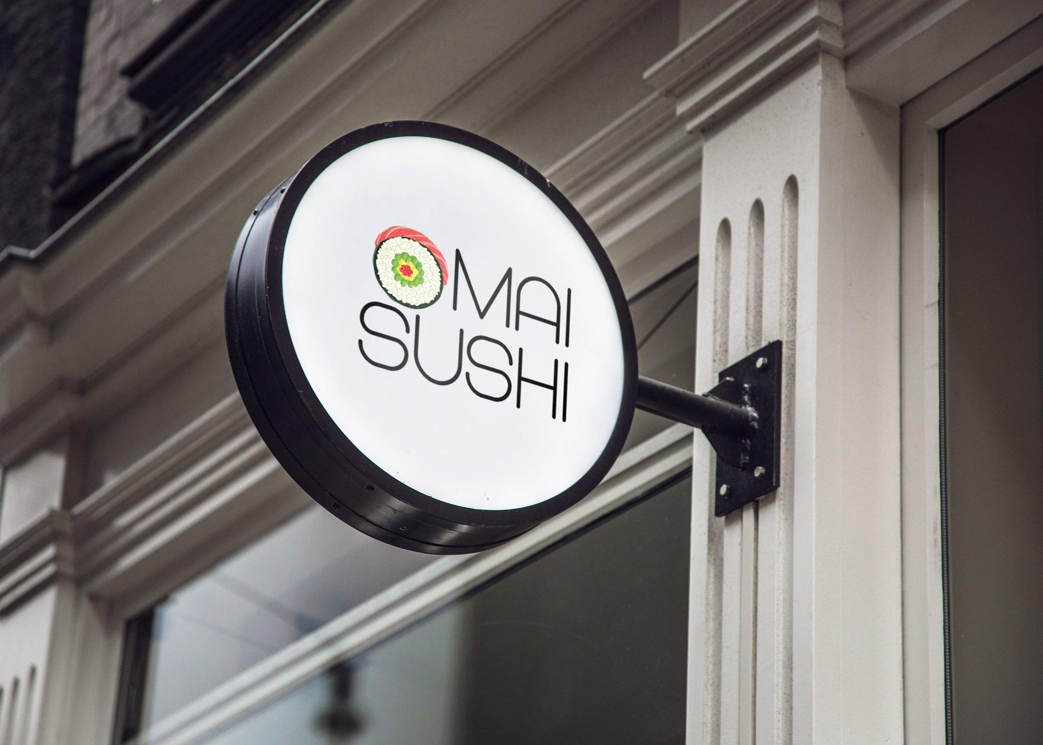 Mai Sushi Logo Design Redesign Rebranding Tuyen Chau