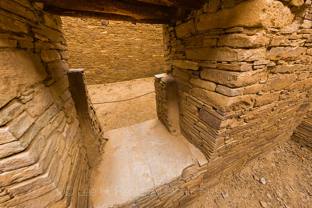 Doorway in Pueblo Bonito in Chaco Canyon