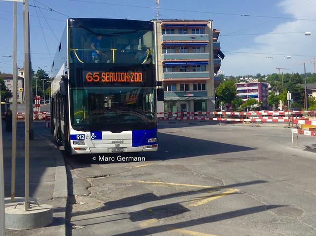 Autobus MAN Lion's City DD n°512 en service sur la ligne 65. © Marc Germann