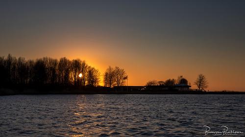 Sunset Lake Grevelingen