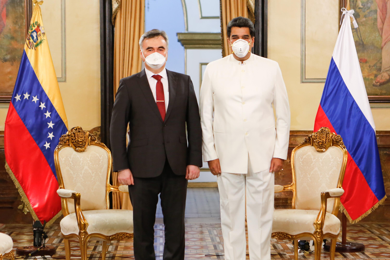 Embajador de Rusia en Venezuela entrega cartas credenciales al presidente Nicolás Maduro