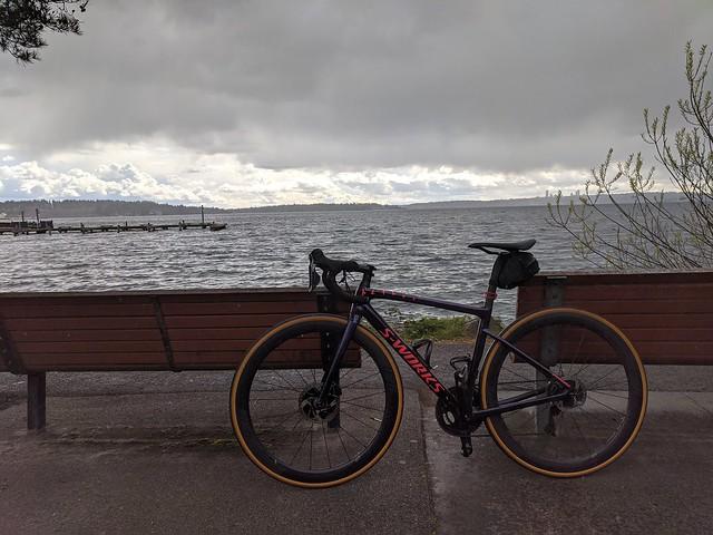 Stormy Lake Washington & Bike