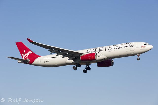 G-VKSS Airbus A330-300 Viring Atlantic Heathrow EGLL 26.02-19