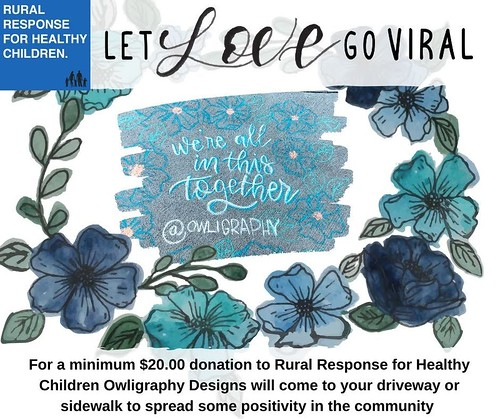 Let Love Go Viral - Chalk art campaign