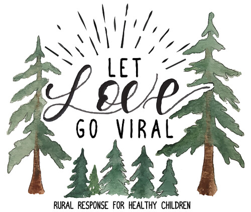 LET LOVE GO VIRAL sticker trees