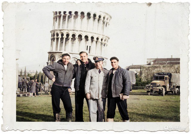Fred in WWII: On the town in Pisa, 1944/45, Colorized