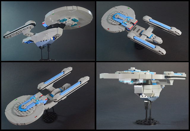 Lego Star Trek Excelsior Real Build