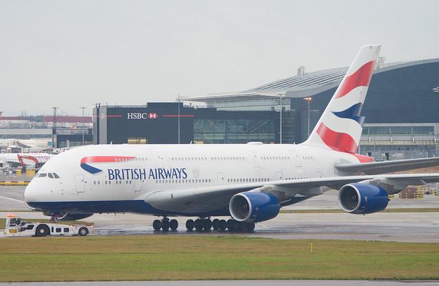 British Airways G-XLEI Airbus A380-841