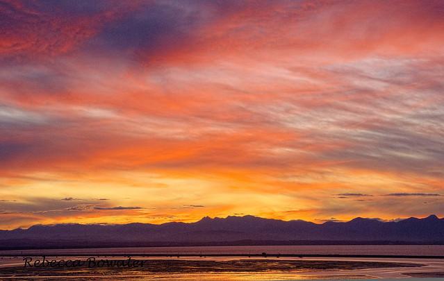 Last Night's Sunset in Nelson