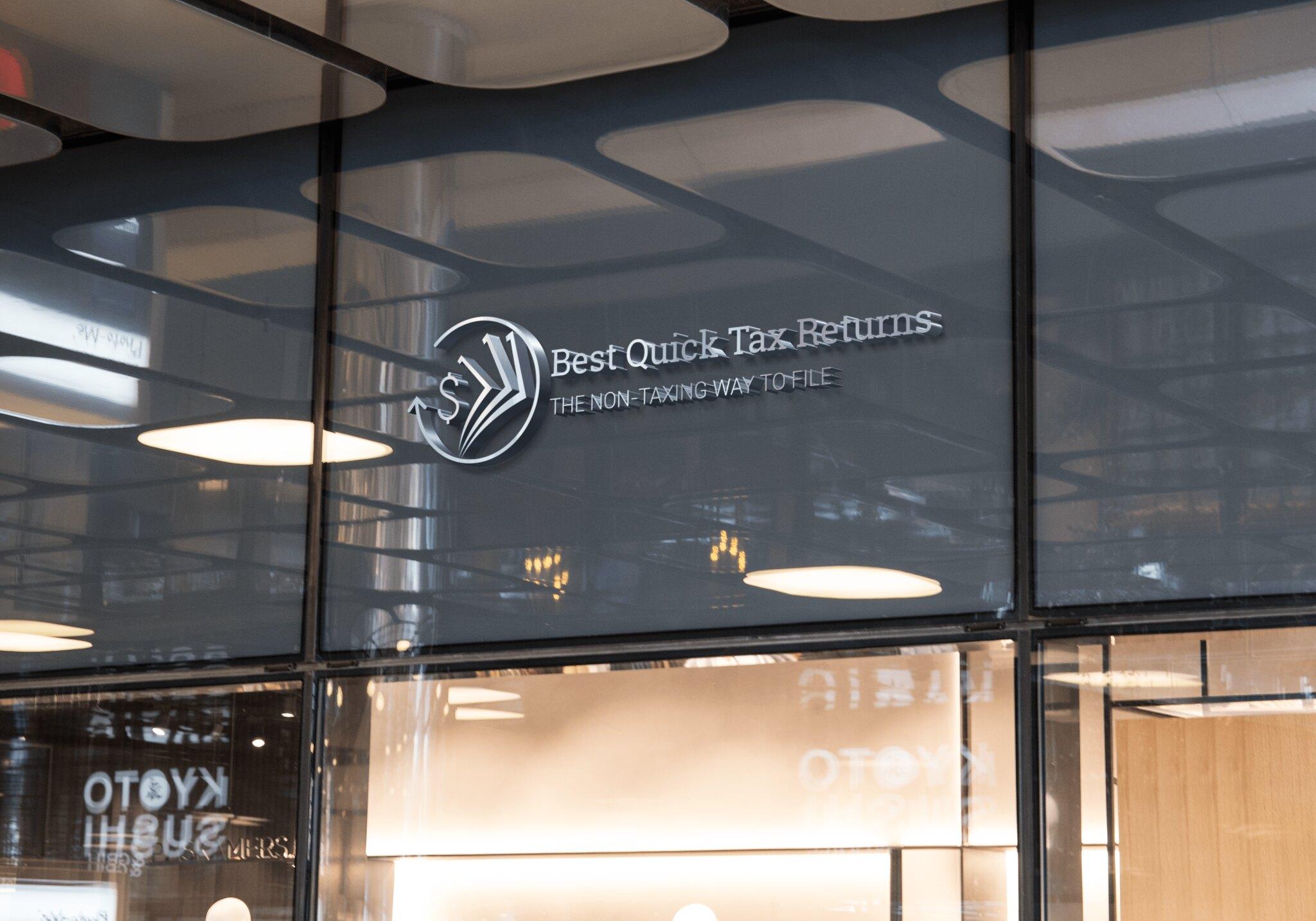 Best Quick Tax Returns Logo Design Broken Rice Media LLC Tuyen Chau