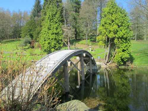Bridge over Lake, Cowden Garden