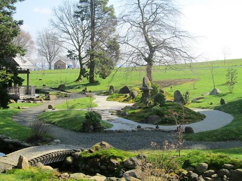 Small Bridge and Zen Garden, Cowden Garden