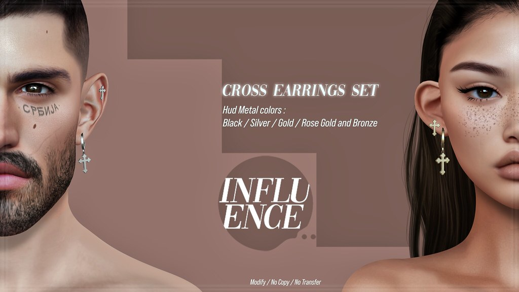 Cross earrings set GIVEAWAY