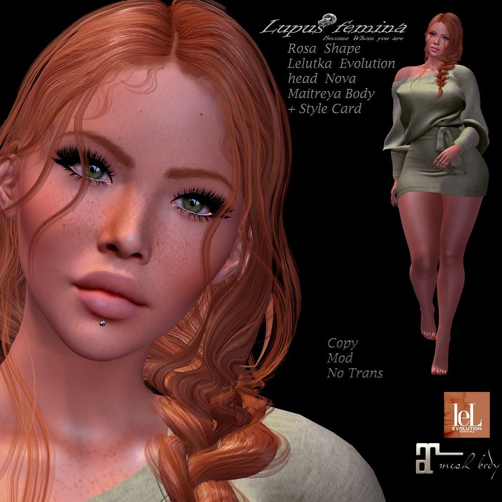 "Lupus Femina"" Rosa Shape – Lelutka Nova Evolution"