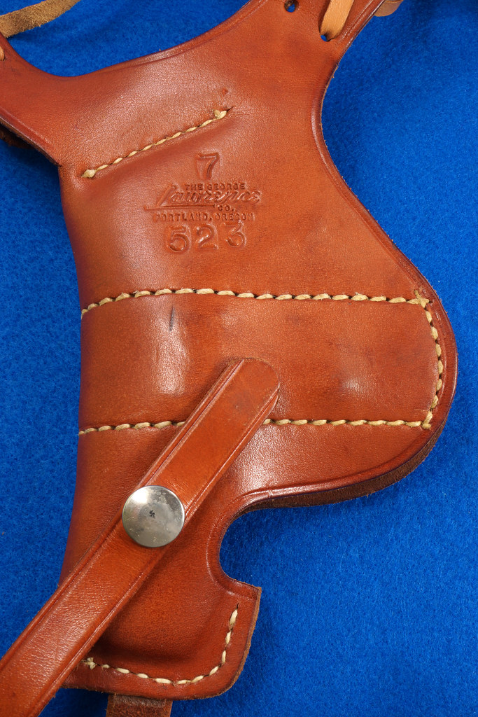 RD29399 George Lawrence Leather Holster 523 7 Colt D Agent Cobra Detective Special 2 in DSC02041